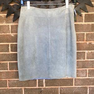 Dresses & Skirts - Short blue leather skirt!